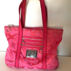 Authentic Coach Poppy style purse- Hot Pink